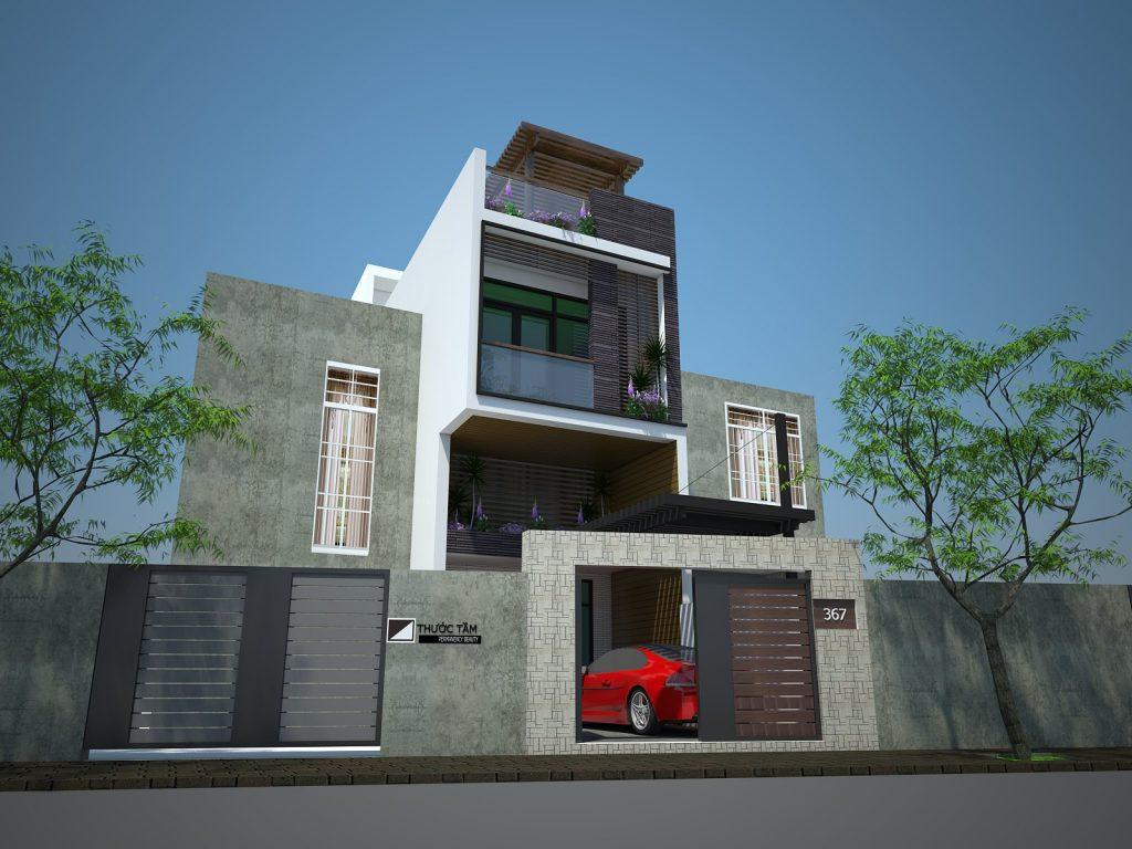 Một căn nhà phố được thiết kế cải tạo bởi công ty Thước Tầm