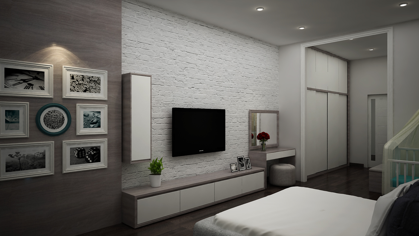 Tủ quần áo và phòng ngủ do Thước Tầm thiết kế