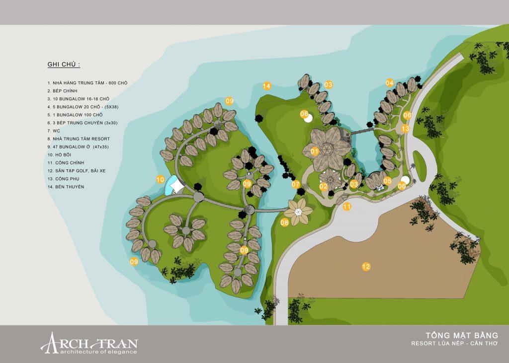 Thiết kế thi công resort Lúa Nếp cần thơ