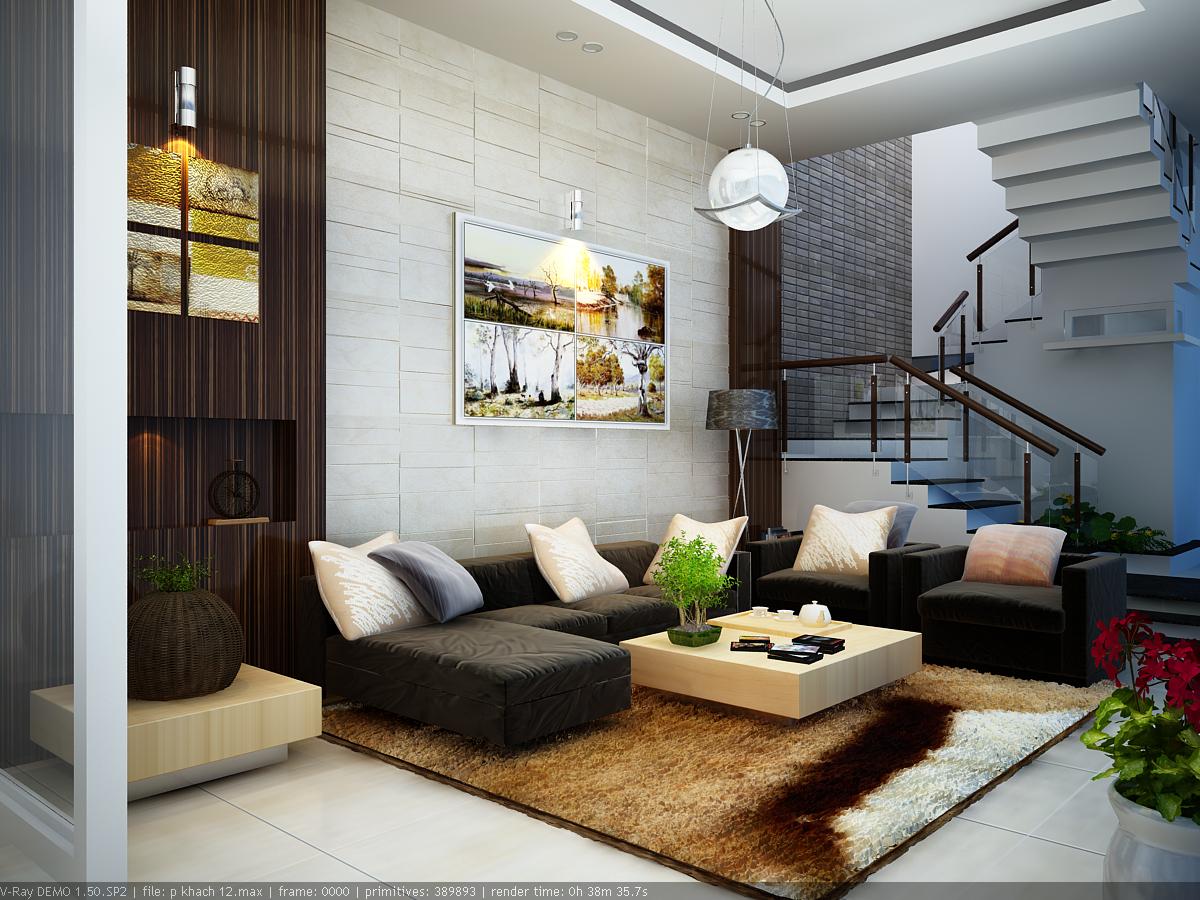Nội thất phòng khách theo phong cách mới
