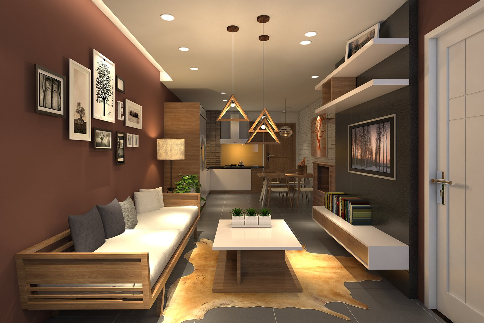 thiết kế thi công căn hộ chung cư nhỏ