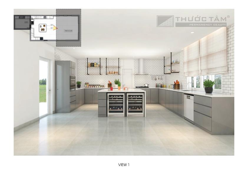 Thiết kế nội thất bếp biệt thự - Kiến Trúc Thước Tầm