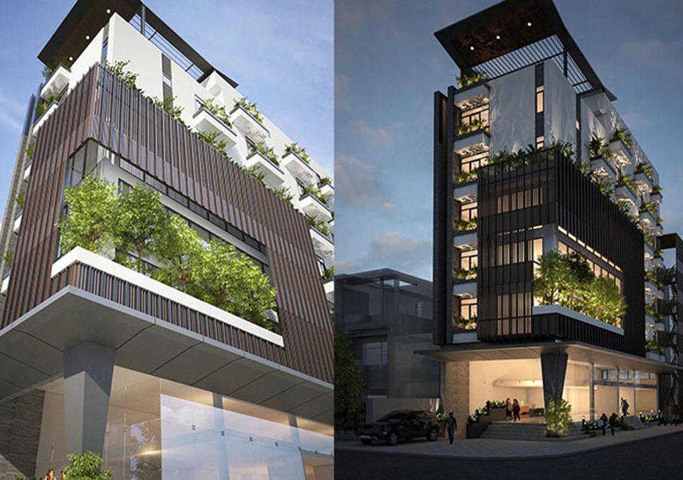 Thiết kế tòa nhà văn phòng tân bình kết hợp căn hộ cho thuê