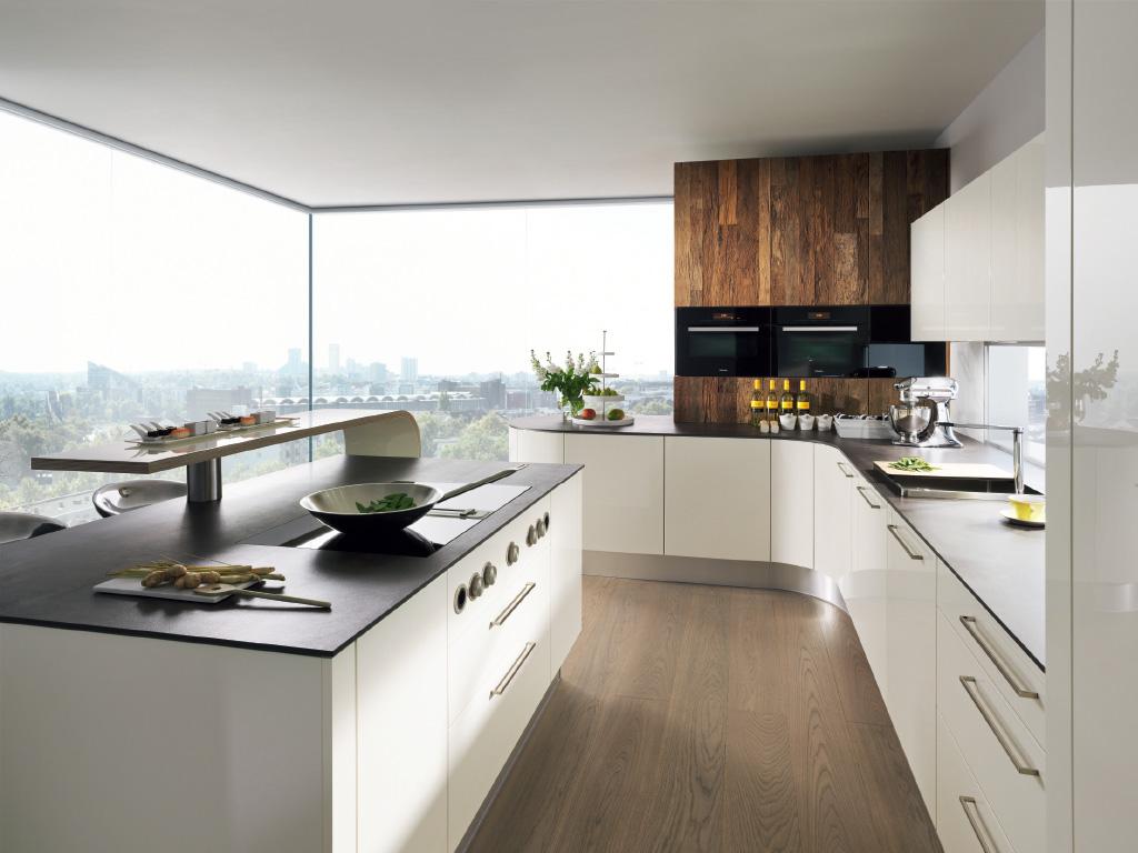 Tủ bếp Acrylic bóng gương mang lại sự hiện đại cho không gian bếp