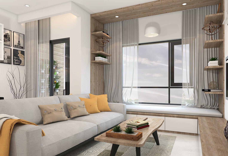 Nội thất phòng khách căn hộ Masteri