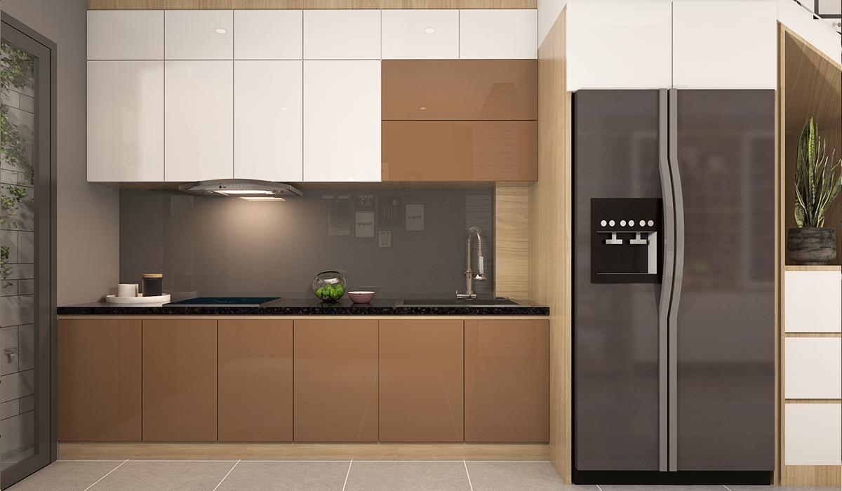 Mẫu phòng bếp nhà phố hiện đại, sang trọng