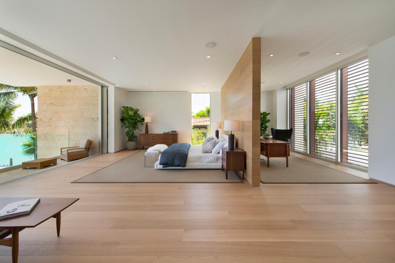 Thiết kế không gian mở sử dụng vách ngăn nội thất