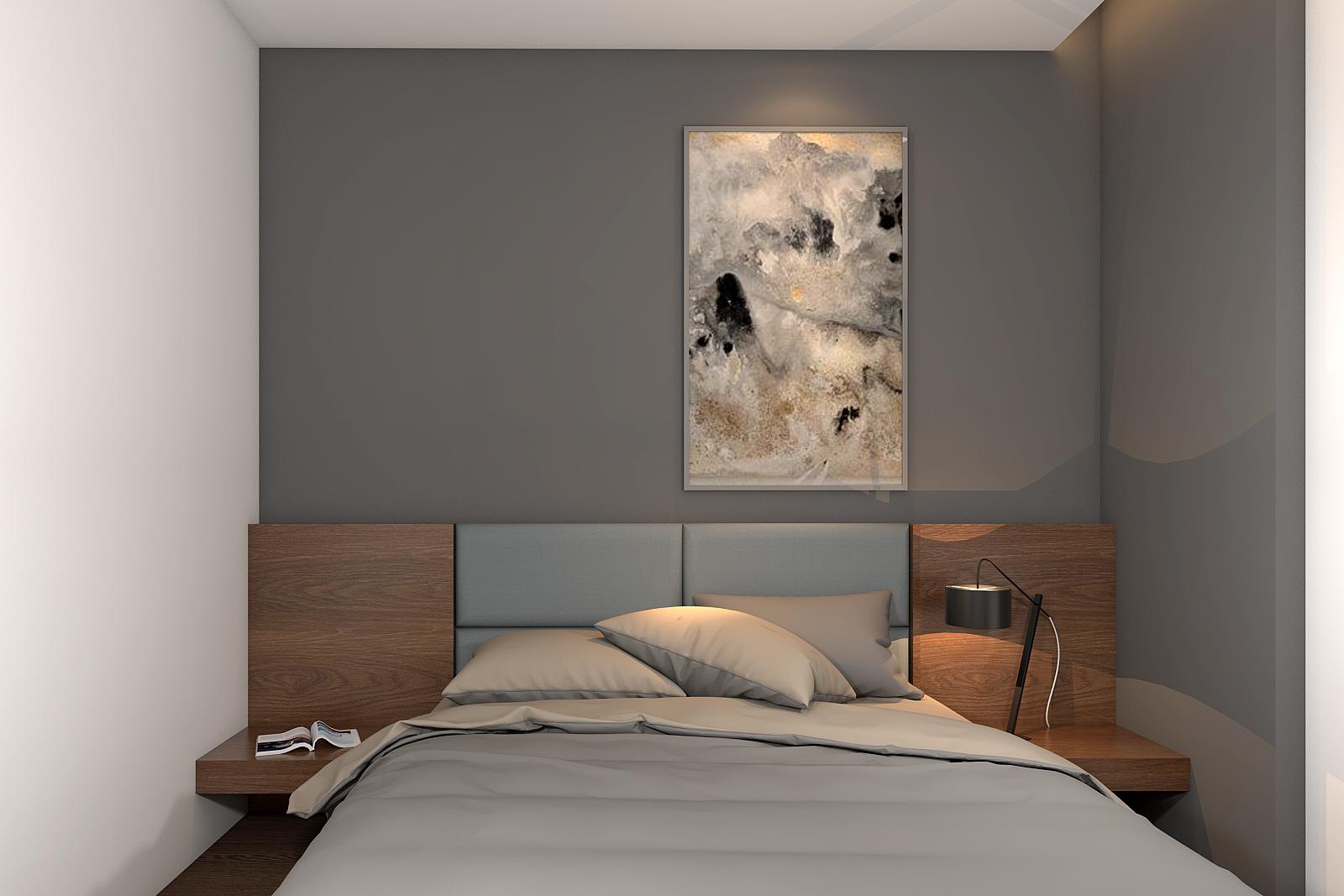 Nội thất gam màu trung tính cho phòng ngủ