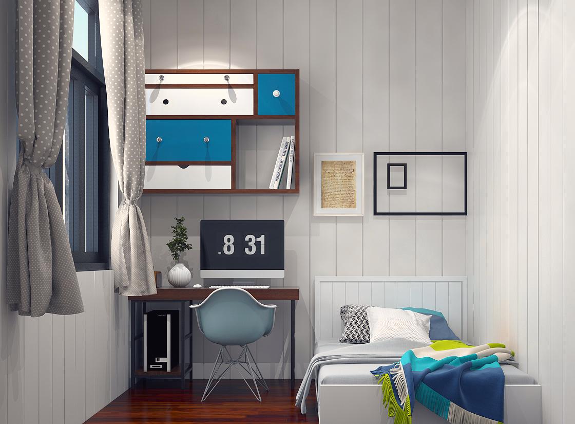 Nội thất gam màu trung tính cho phòng diện tích nhỏ