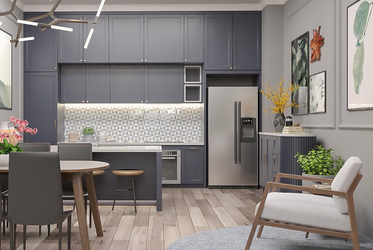Không gian nội thất bếp tại Showroom nội thất TAM Design