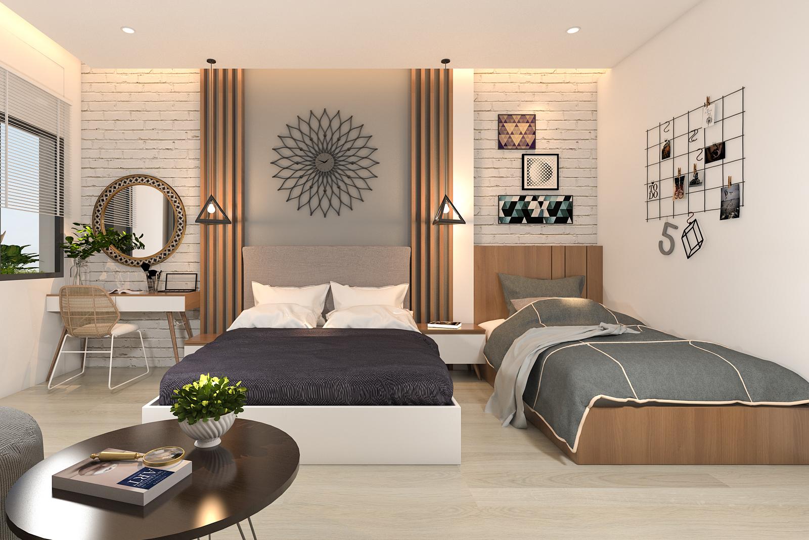 Nội thất phòng ngủ hiện đại, độc đáo