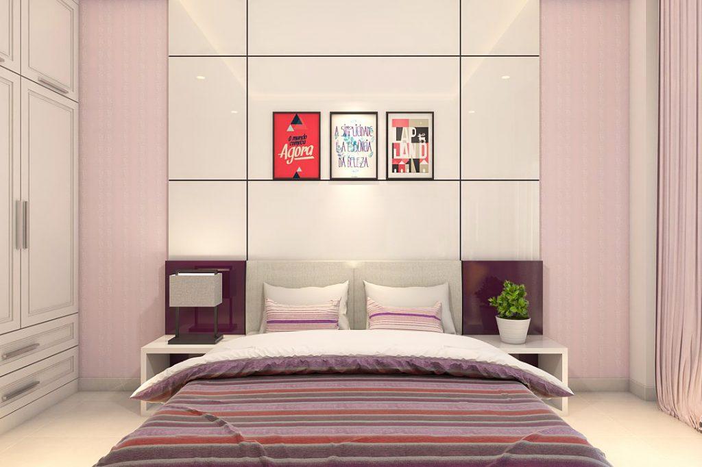 Nội thất phòng ngủ hiện đại, tông màu nhẹ nhàng
