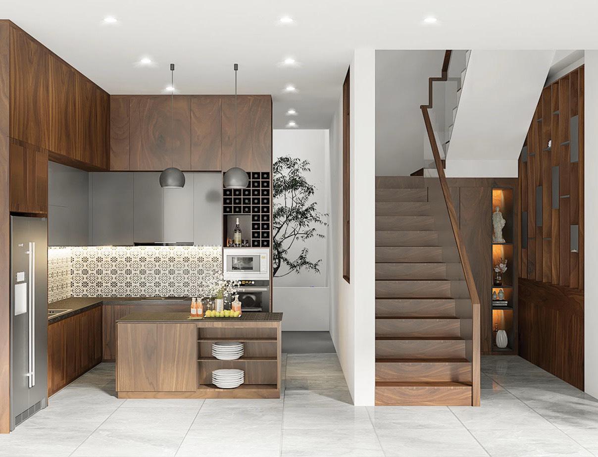 Không gian bếp công trình Biệt thự Quảng Ngãi