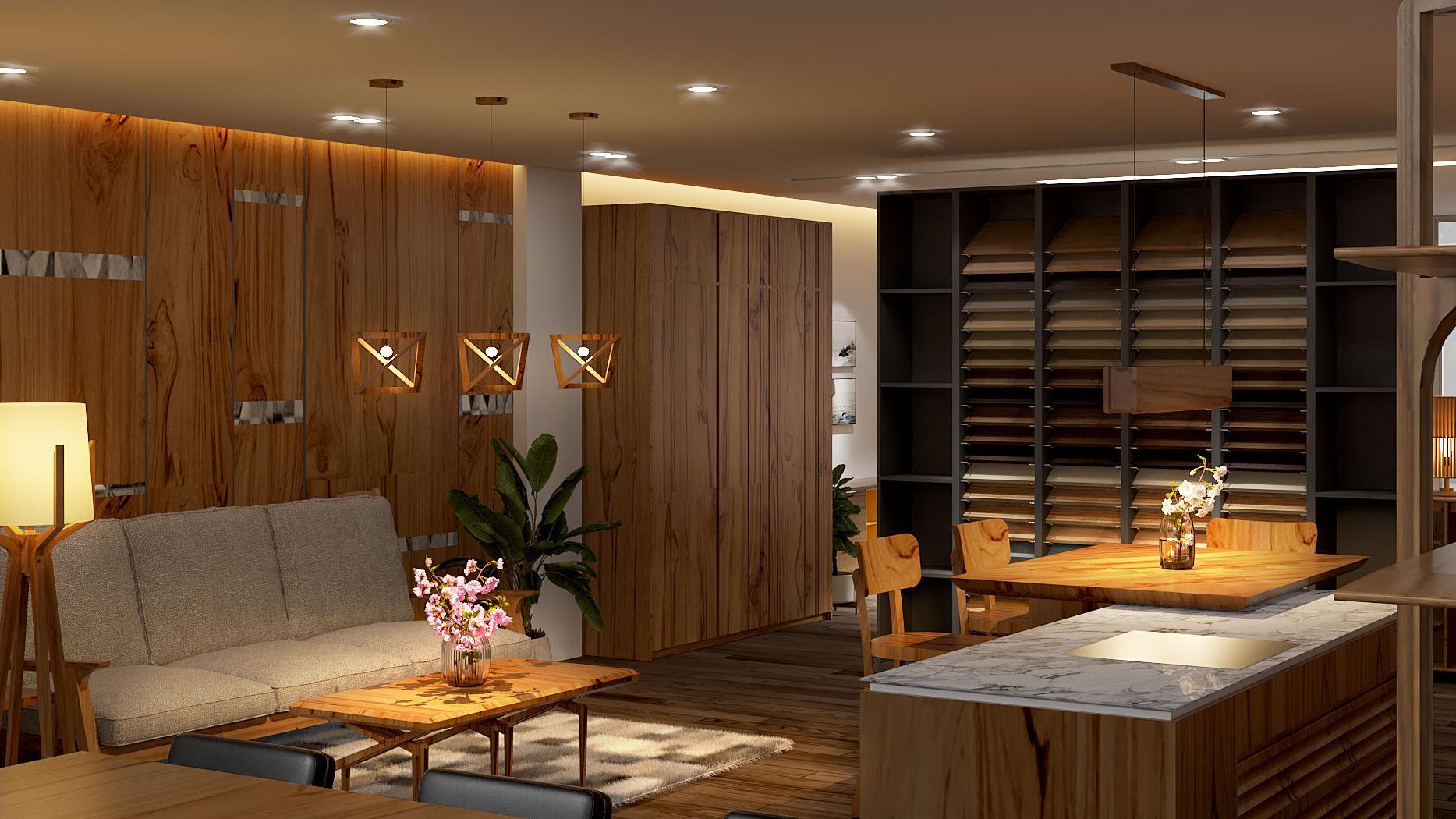 Nội thất showroom chi nhánh Nha Trang