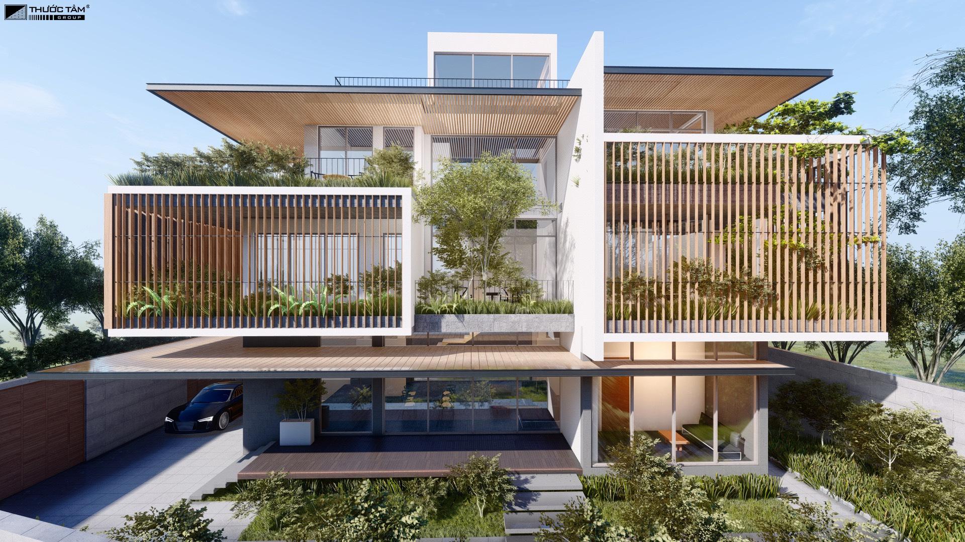 biệt thự kiến trúc xanh