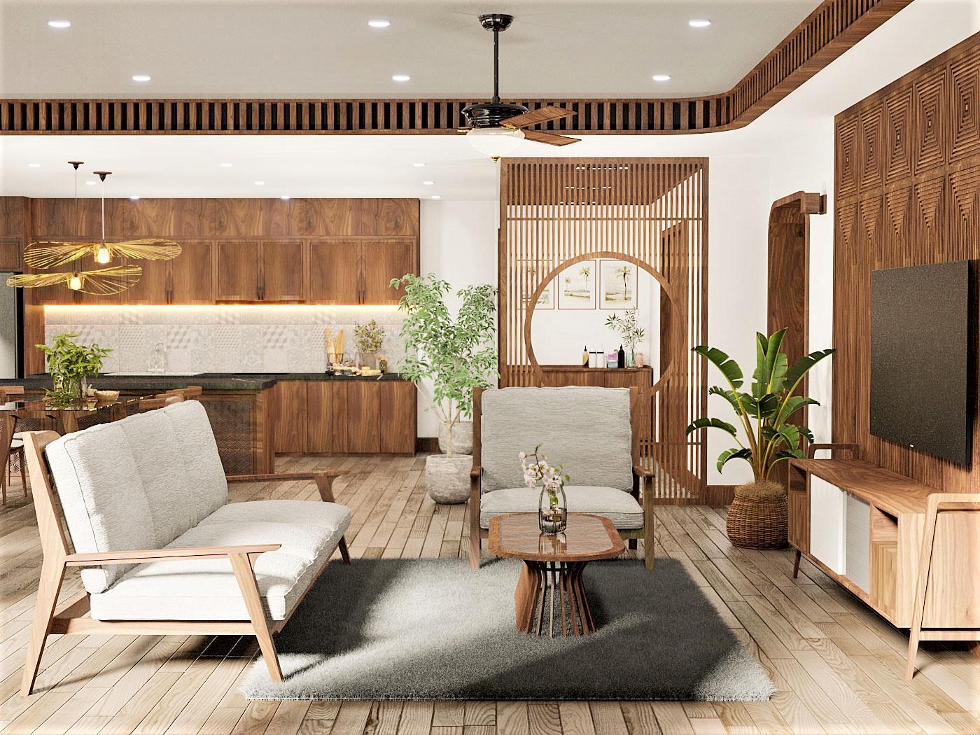 Phong cách thiết kế Mid-Century gần gũi với người Việt