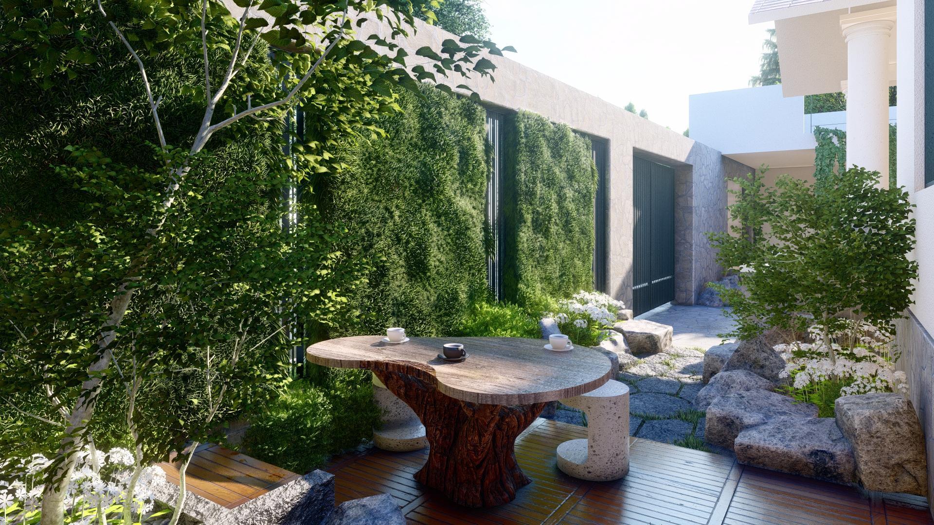 Phối cảnh sân vườn Biệt thự Nha Trang