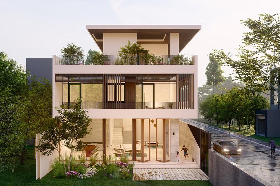 Mẫu biệt thự đẹp nhất, tối giản Quảng Ngãi Villa