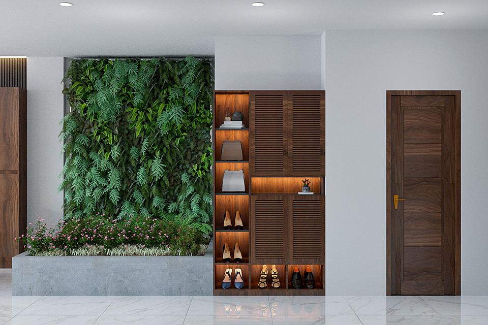 Chất liệu gỗ được sử dụng phổ biến trong mẫu nội thất nhà phố hiện đại