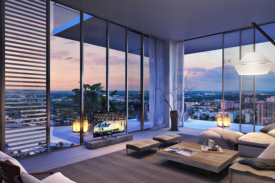Gam màu trung tính được sử dụng nhiều trong nội thất căn hộ Penthouse