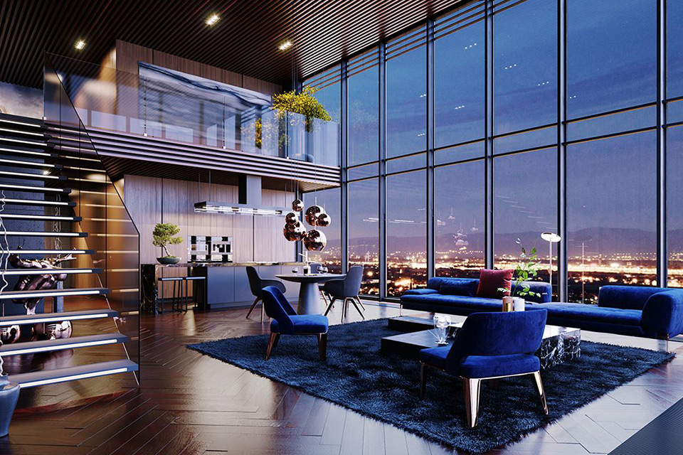 Nội thất căn hộ Penthouse đẳng cấp