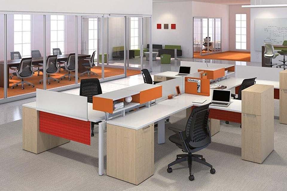 Thiết kế văn phòng không gian mở với những vật dụng thông minh