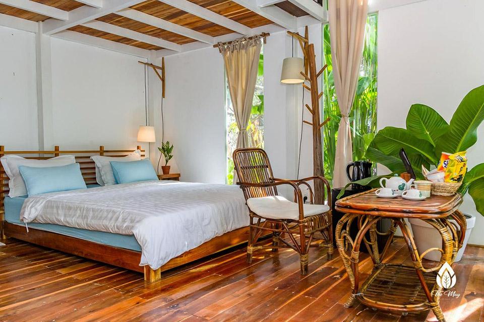 Ý tưởng thiết kế phòng khách sạn đẹp, mang một chút hoài cổ
