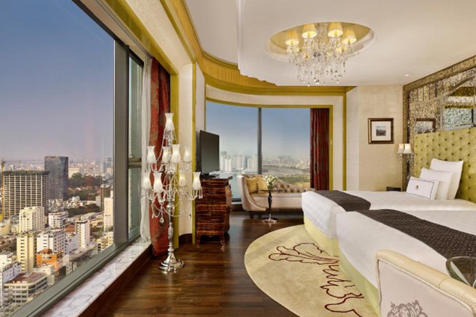 Ý tưởng thiết kế phòng khách sạn đẹp có view trên cao tuyệt đẹp