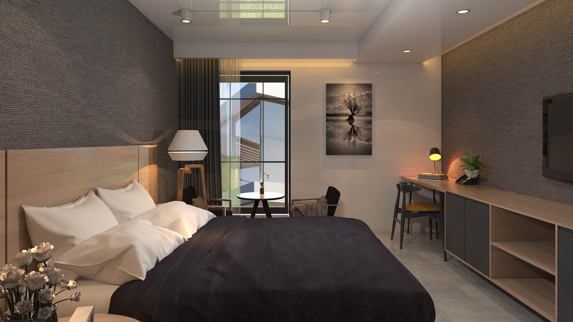 Ý tưởng thiết kế phòng khách sạn đẹp