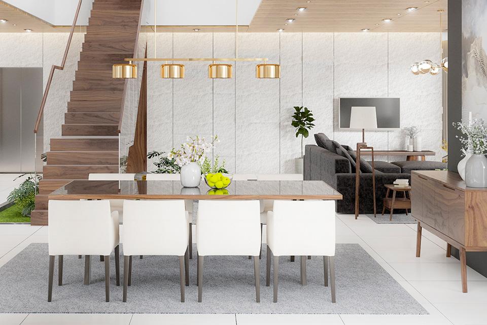 Thiết kế kiến trúc biệt thự hiện đại tạo không gian mở