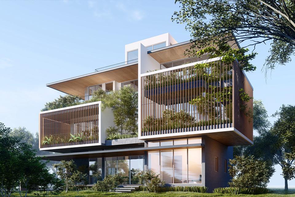 Ý tưởng thiết kế biệt thự sân vườn đẹp