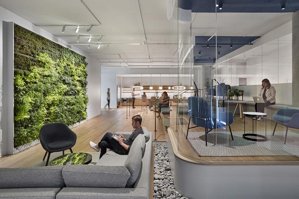 Văn phòng nên có nhiều cửa sổ, vách kính để tăng độ sáng trong thiết kế văn phòng cao cấp