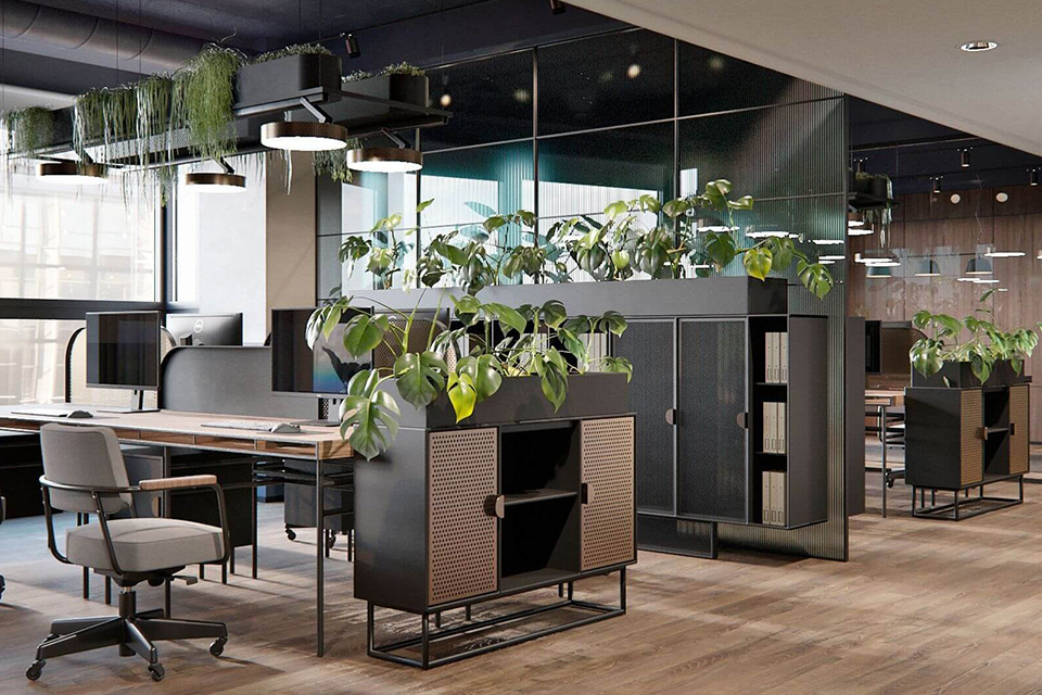 Thiết kế văn phòng xanh chuyên nghiệp nâng cao ý thức sống xanh cho nhân viên