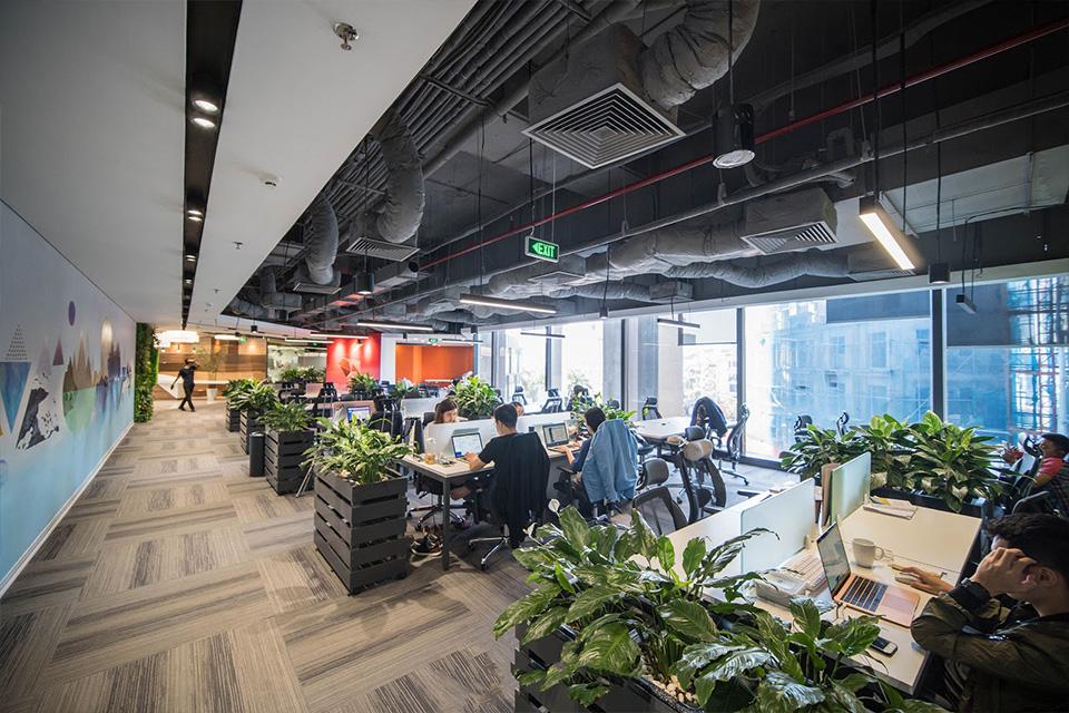 Thiết kế tòa nhà văn phòng xanh tạo cảm giác cho nhân viên thoải mái như ở nhà