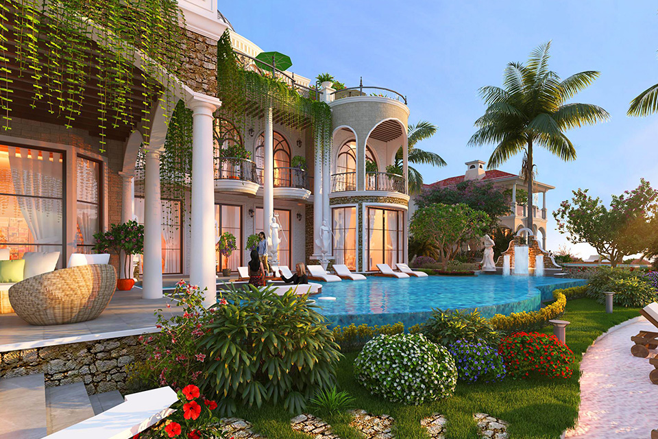 Thiết kế cảnh quan khu resort phong cách châu Âu