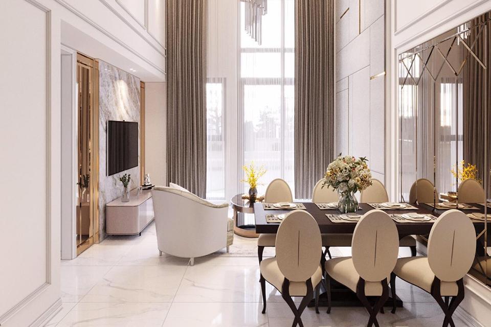 Thiết kế nội thất căn hộ Duplex màu sắc trang nhã, tinh tế