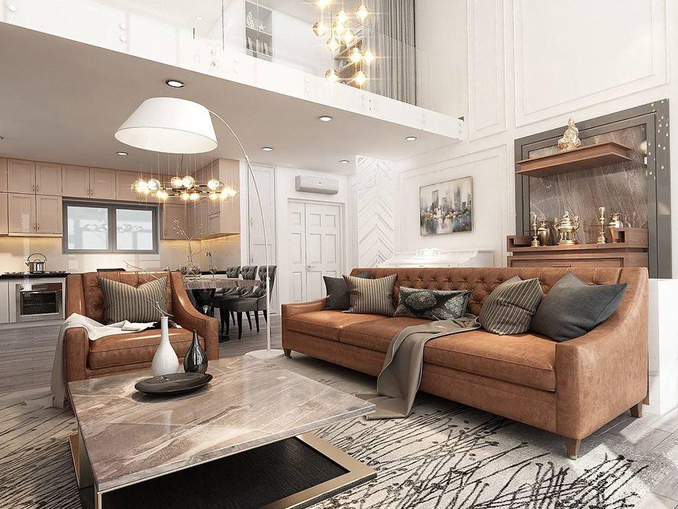 Thiết kế nội thất căn hộ Duplex sang trọng, thời thượng