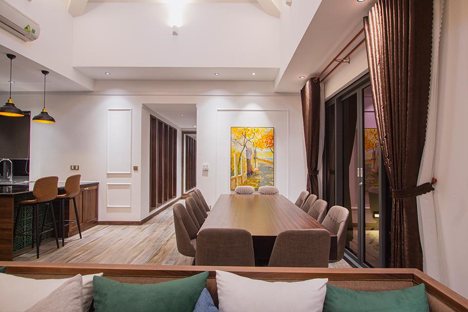 Không gian nội thất đơn giản, hài hòa của Villa Hồ Tràm