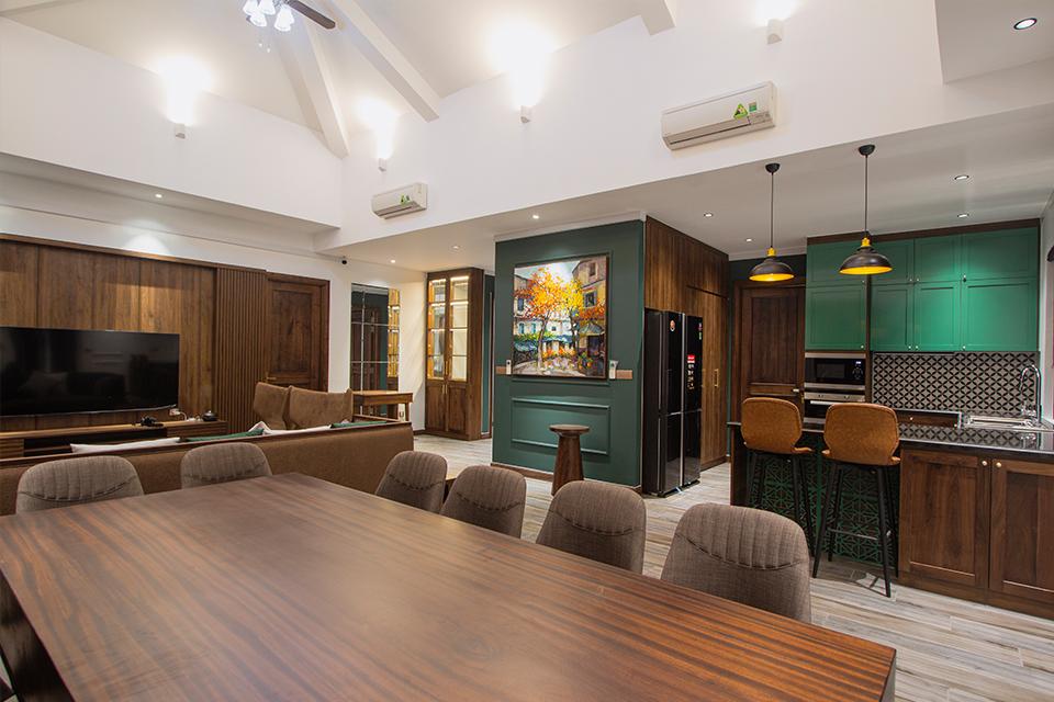 Tổng thể không gian chính trong căn Villa Hồ Tràm