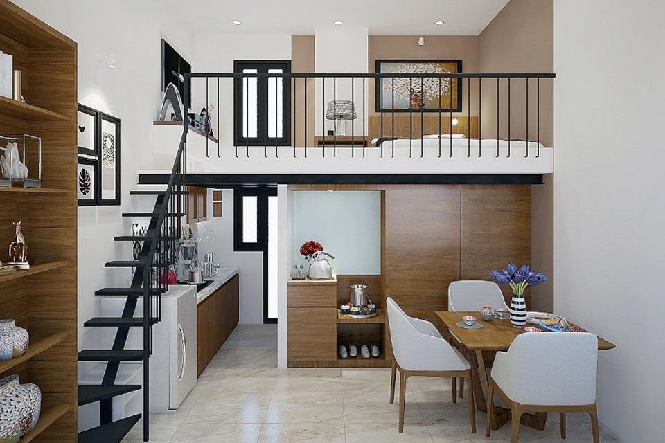 Tùy vào diện tích nhà phố có tầng lửng để bố trí không gian phù hợp
