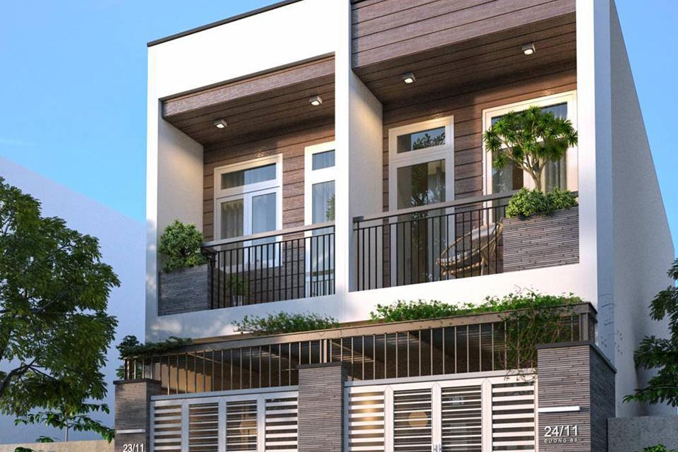 Nhà phố song lập diện tích nhỏ nên thiết kế đơn giản, tối ưu công năng sử dụng