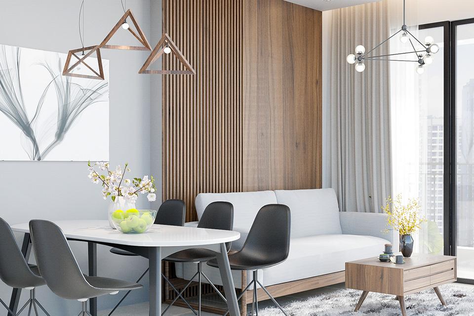 Thiết kế nội thất chung cư cao cấp phong cách tối giản