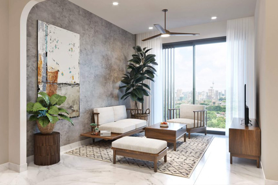 Thiết kế nội thất chung cư cao cấp phong cách Mid-Century