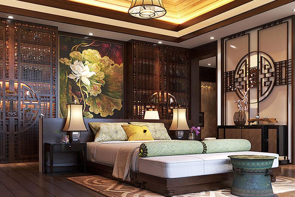 Thiết kế nội thất chung cư cao cấp phong cách Á Đông