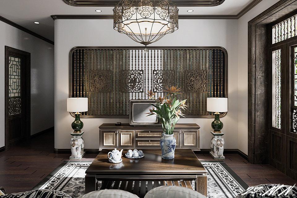 Thiết kế nội thất chung cư cao cấp phong cách Đông Dương