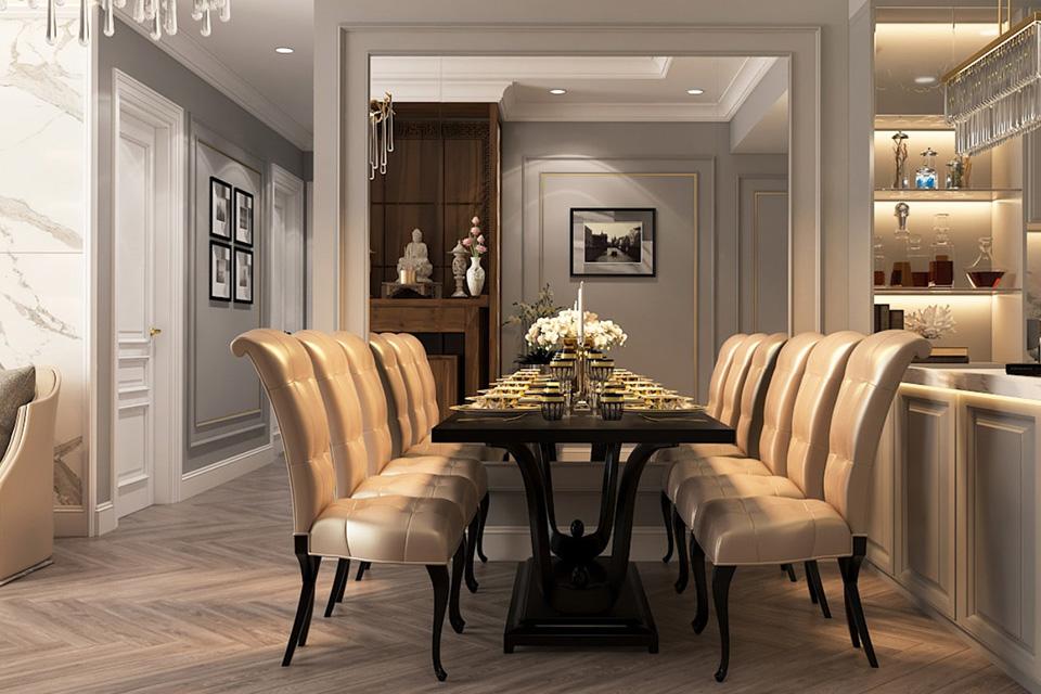 Thiết kế nội thất chung cư cao cấp phong cách tân cổ điển