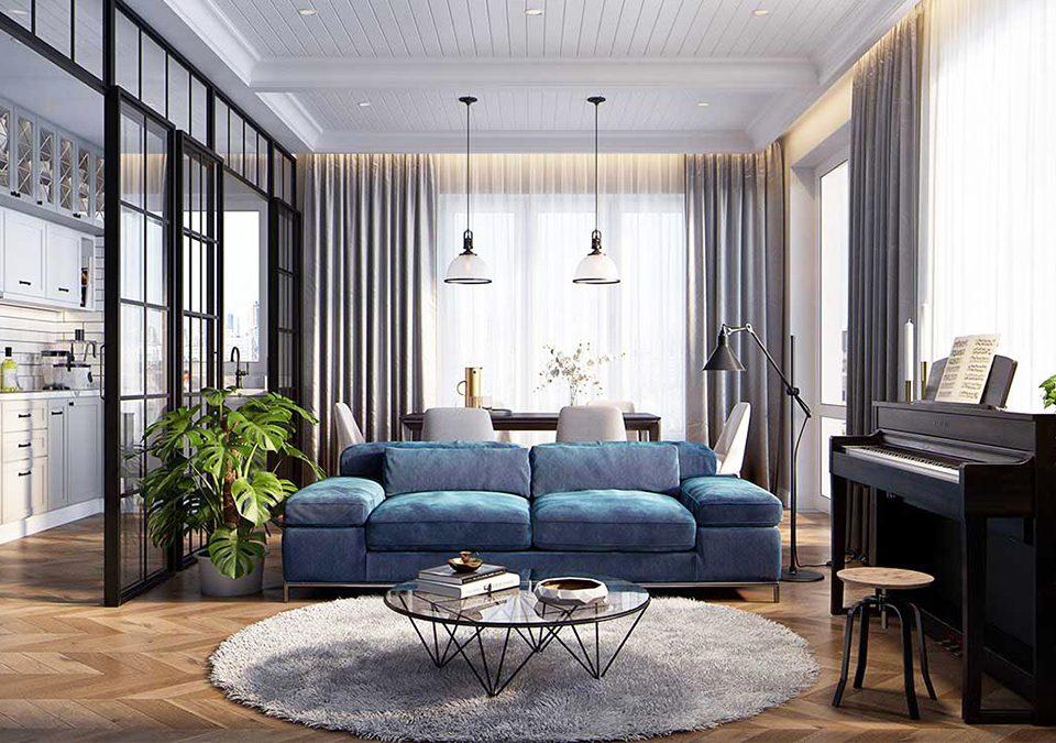 Phong cách thiết kế nội thất chung cư cao cấp