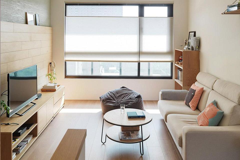 Thiết kế căn hộ chung cư 50m2 hiện đại, màu sắc tươi sáng