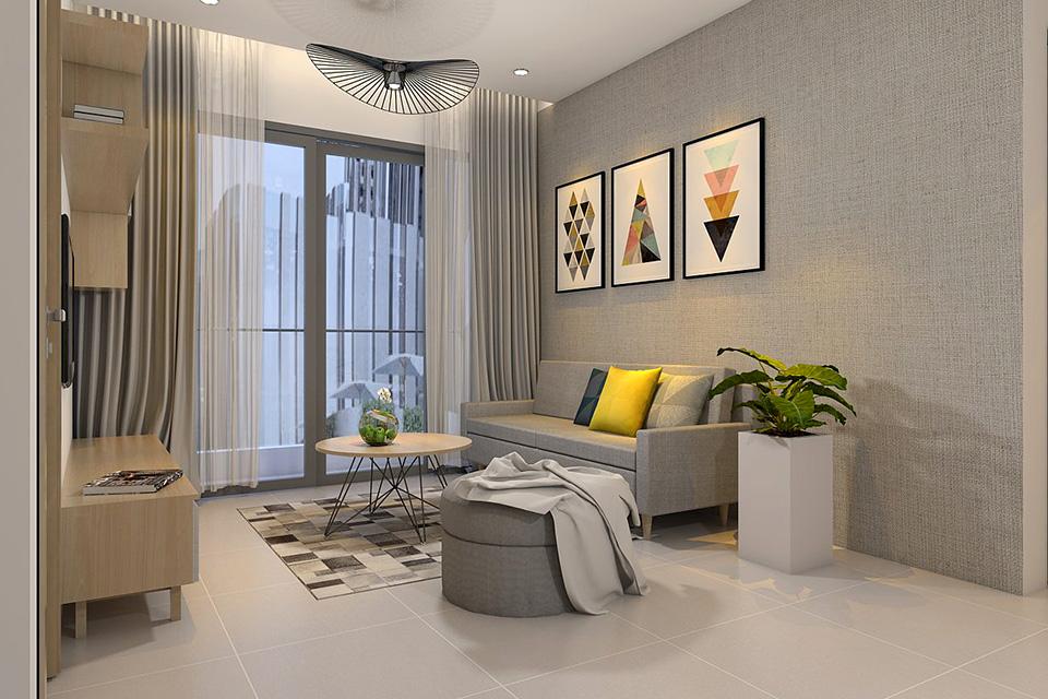 Thiết kế căn hộ chung cư 50m2 một phòng ngủ cho gia đình nhỏ