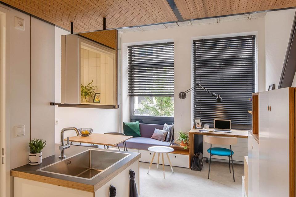 Hạn chế diện tích không gian bếp trong thiết kế nội thất chung cư diện tích nhỏ